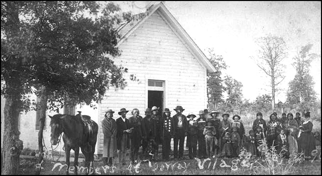 Church with Ioway members